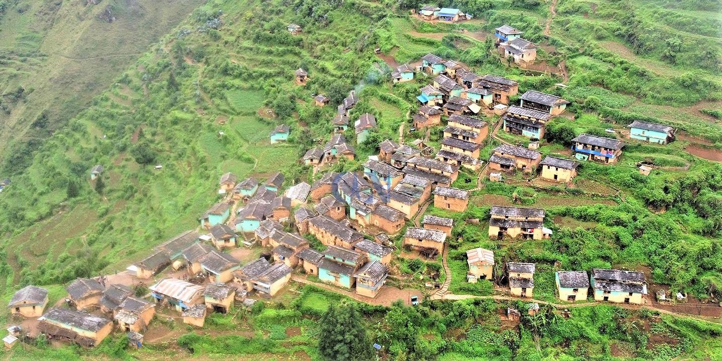 रुकुमको काँक्री गाउँ